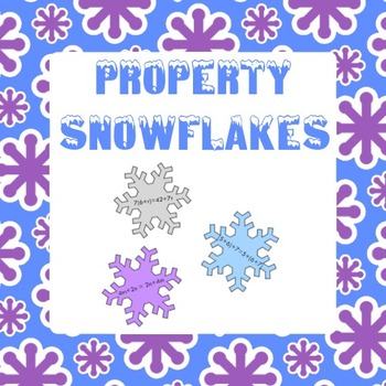 Property Snowflakes - Commutative, Associative, Distributi