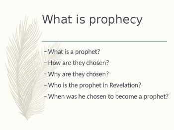 Prophecy Power Point