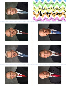 Prophets and Apostles Memory Game for FHE or General Conference (October 2017)