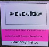 Proportion Foldable
