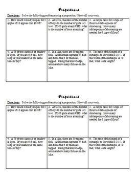 Proportion Homework Package