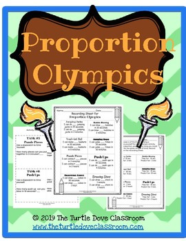 Proportion Olympics 6.3c Math Center / Stations for Middle School