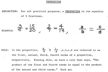 Proportion & Percent