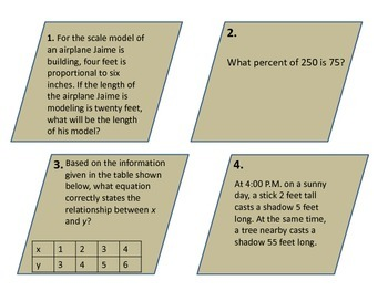 Proportion, Percent, and Constant Ratio Task Cards