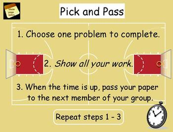 Proportion Pick-and-Pass Flipchart