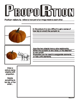 Proportion (Principles of Art/Design) Worksheet