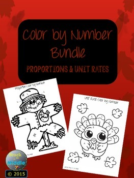 Proportion & Unit Rate Color By Number Bundle