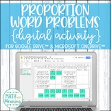 Proportion Word Problems DIGITAL Activity for Google Drive Distance Learning