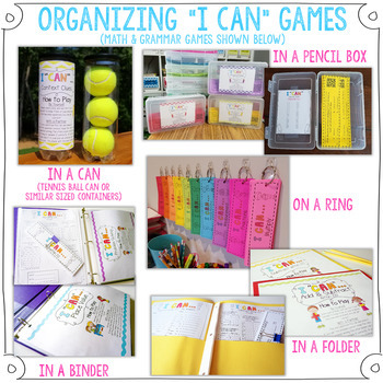 7th Grade Proportions Game 7th Grade Math Review {I CAN Math Games}
