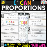 7th Grade Proportions Game 7th Grade Math Review {I CAN Ma