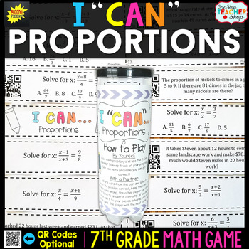 Proportions Seventh Grade Math Game