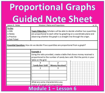 Proportional Graphs Guided Note Sheet