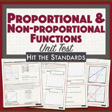 Proportional & Non-proportional Functions UNIT TEST