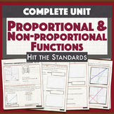 Proportional & Non-proportional Linear Functions & Unit Rate UNIT 5 BUNDLE30%OFF