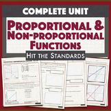 Proportional & Non-proportional Linear Functions & Unit Rate UNIT 5 BUNDLE30%OFF