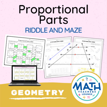 Proportional Parts (Similarity)  - Puzzle Worksheet