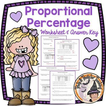 Proportional Percentage Practice Proportions Percentages Percent Worksheet