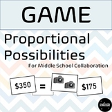 Proportional Possibilities Game for Middle School Math