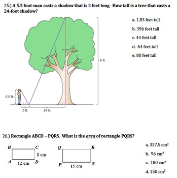 Proportional Reasoning Exam and Study Guide 7th Grade Common Core
