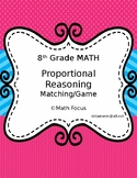 Proportional Reasoning Matching Activity or Game