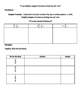 Proportional Reasoning Notes Packet