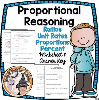 Proportional Reasoning Ratios Unit Rates Percents and Prop