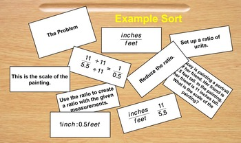 Proportional Reasoning Sort