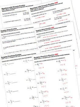 Proportional Reasoning Worksheets Test 7th Grade By The Math Station