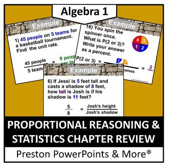 Proportional Reasoning and Statistics Review in a PowerPoi
