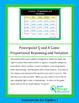 Algebra I: Powerpoint Q and A Game - Proportional Reasonin