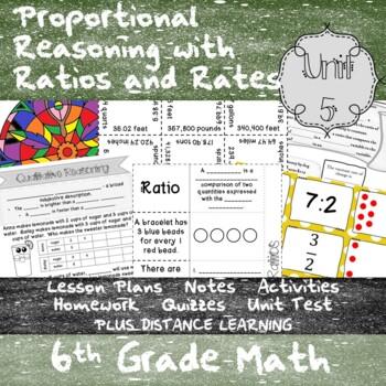 Proportional Reasoning w/ Ratios and Rates-(6thGrade Math TEKS 6.4B-E,6.4H&6.5A)