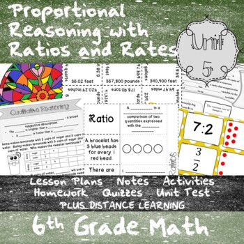 Proportional Reasoning w/ Ratios and Rates-(6thGrade Math TEKS 6.4B-E,6.4H&6.5A)