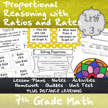 Proportional Reasoning with Ratios and Rates - (7th Grade Math TEKS 7.4A-E)