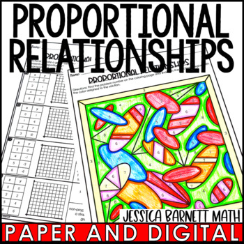 Proportional Relationships Coloring Page Activity