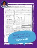 Proportional Relationship Sketch Notes