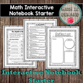 Math Interactive Notebook Starter - Algebra