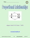 Proportional Relationships - 7.RP.2