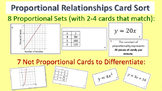 Proportional Relationships Card Sort - Graphs, Tables, Equ