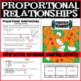 Proportional Relationships Christmas Holiday Coloring Interactive Notebook