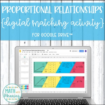 Proportional Relationships Constant of Proportionality DIGITAL Matching Activity