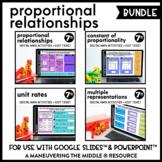 Proportional Relationships Digital Math Activity Bundle |