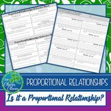 Proportional Relationships - Equations, Tables and Graphs