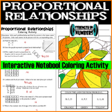 Proportional Relationships Fall Pumpkin Coloring Interactive Notebook