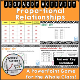 Proportional Relationships Jeopardy Game