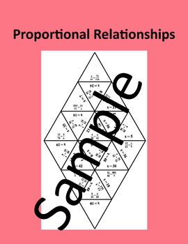 Proportional Relationships – Math puzzle