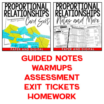 Proportional Relationships Lesson Bundle