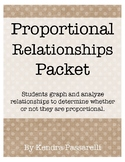 Proportional Relationships Packet