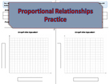 Proportional Relationships Practice