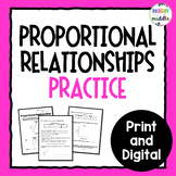 Proportional Relationships Practice 7.RP.2