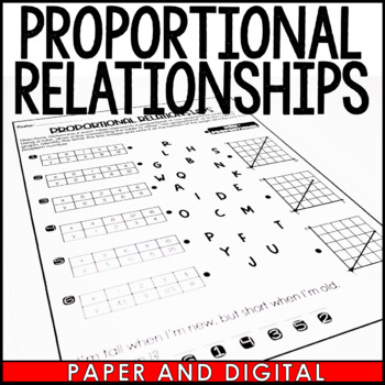 Proportional Relationships Riddle Activity